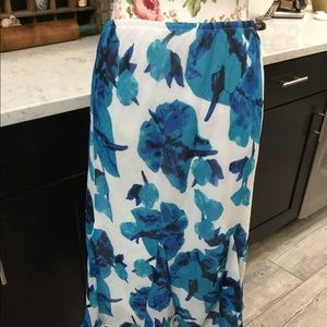 Cato Floral Print Fully Lined Elastic Waist Skirt